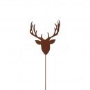 Metal plug deer head, height 60cm, rod length 50